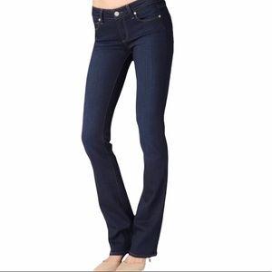 Paige Dark Wash Monte Boot Jeans, size 32